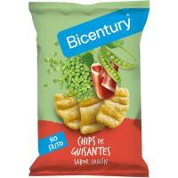 Chips de guisantes sabor jamón BICENTURY, bolsa 55 g