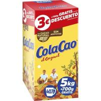 Cacao soluble COLA CAO, caja 5 kg + 700 g Gratis