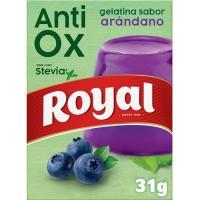 Gelatina antiox arándanos con stevia ROYAL, caja 31 g