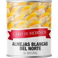 Almejas blancas al natural CABO DE HORNOS, lata 90 g