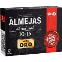 Almejas al natural 10/15 SANCHEZ LLIBRE, lata 63 g