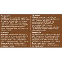 Pan de molde integral con corteza EROSKI, paquete 460 g
