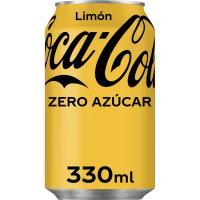 Refresco de cola al limón sin azúcar COLA COCA, lata 33 cl