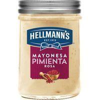 Mayonesa de pimienta rosa HELLMANN'S, frasco 190 ml