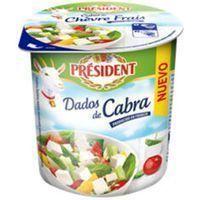 Dados de queso de cabra PRESIDENT, tarrina 120 g