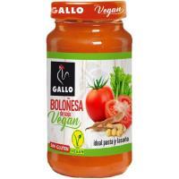 Salsa boloñesa de soja vegan GALLO, frasco 350 g