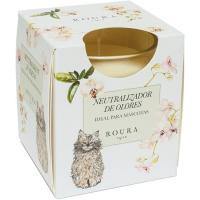 Vela perfumada neutralizador de olor para gato ROURA, pack 1 ud.