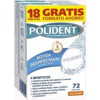 Tabletas limpiadoras para protesis dentales POLIDEN, caja 72 uds