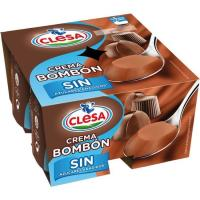 Crema bombón sin azúcar añadido CLESA, pack 4x125 g