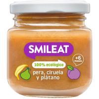 Potito de 3 frutas ecológico SMILEAT, tarro 130 g