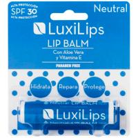 Stick labial neutro FPS 30 sin parabenos LUXILIPS, pack 1 ud.