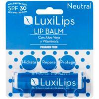 Stick labial neutro FPS 30 sin parabenos LUXILIPS, pack 1 ud.