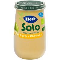 Potito ecológico de pera-plátano HERO, tarro 190 g