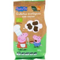 Galleta ecológica con cacao Peppa Pig bio MAXIES, paquete 100 g
