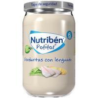 Potito de verduritas con lenguado NUTRIBEN, tarro 235 g
