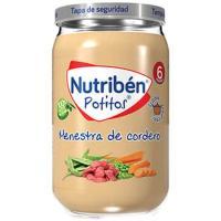 Potito menestra de cordero NUTRIBEN, tarro 235 g
