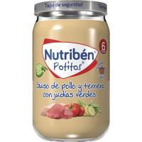 Potito de pollo-ternera-judías verdes NUTRIBEN, tarro 235 g