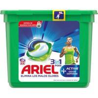 Detergente líquido 3n1 elimina malos olores ARIEL, caja 22 dosis