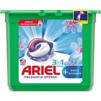 Detergente en cápsulas Lenor 3en1 ARIEL, caja 22 dosis