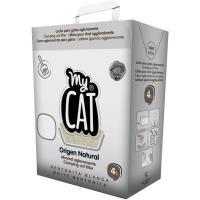Arena bentonita aglomerante MYCAT, caja 4 litros
