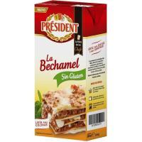 Bechamel sin gluten PRESIDENT, brik 500 ml