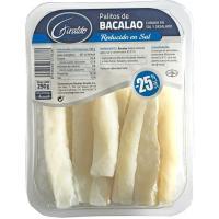 Palito de bacalao reducido en sal GIRALDO, bandeja 250 g