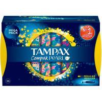 Tampón Pearls Compak regular TAMPAX, caja 36 uds.