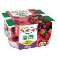 Postre de soja de frutos del bosque SOJASUN, pack 4x100 g