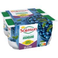 Postre de soja de arándanos SOJASUN, pack 4x100 g