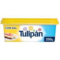 Margarina con sal TULIPAN, tarrina 250 g