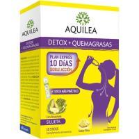 Sticks bebibles detox-quemagrasas AQUILEA, caja 10 uds.