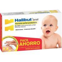 Pomada protectora para pañal HALIBUT DERMOH, pack 2x45 g