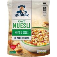 Muesli de frutos secos-semillas QUAKER, paquete 600 g