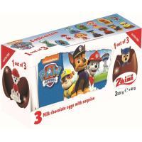 Huevos de chocolate licencia con sorpresa MAP, pack 3x20 g