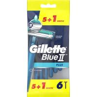 Maquinilla desechable GILLETTE Blue II Plus, pack  5+1 uds.