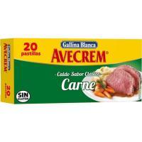 Caldo de carne AVECREM, caja 20 pastillas