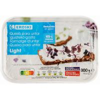 Queso de untar light EROSKI, tarrina 300 g