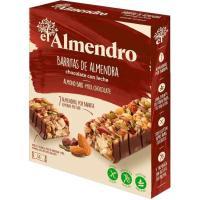 Barrita de chocolate con leche EL ALMENDRO, 4 uds., caja 100 g