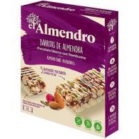 Barrita de chocolate blanco-frutos rojos EL ALMENDRO, caja 100 g