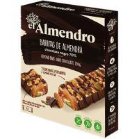 Barrita de chocolate negro 70% EL ALMENDRO, 4 uds., caja 100 g