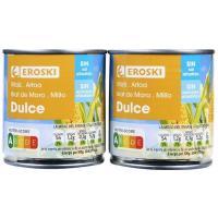 Maíz sin sal-sin azúcar añadido EROSKI , pack 2x140 g