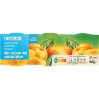 Melocotón sin azúcar EROSKI, pack 3x115 g