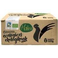 Huevo ecológico estuche HOBEA, cartón 6 uds