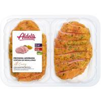 Medallón de pechuga de pavo finas curry ALDELIS, bandeja aprox. 400 g