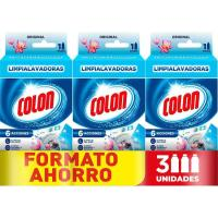 Limpia lavadoras triple COLON, pack 3 uds.