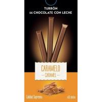 Sticks de turrón de chocolate con caramelo DELAVIUDA, caja 120 g