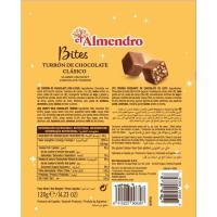 Bites de chocolate con leche EL ALMENDRO, bolsa 120 g