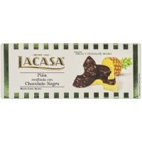 Piña cubierta con chocolate negro LACASA, caja 135 g