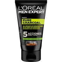 Gel anti-imperfecciones lim charcoal L`OREAL Men E., tubo 100 ml