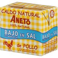 Caldo natural de pollo bajo en sal ANETO, brick 500 ml